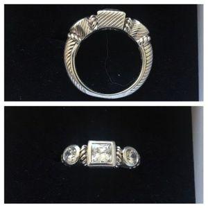 Judith Ripka RETIRED Sterling CZ Ring Sz5